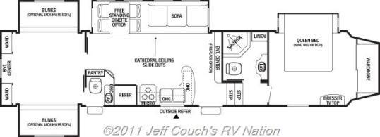 2012 Cedar Creek Silverback 35QB4 5th Wheel-Silver Edition