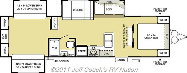 Jay Series Sport also Jayco Jay Flight G Travel Trailer Interior likewise Floorplan further Seneca Ts furthermore Bhts. on jayco travel trailer floor plans