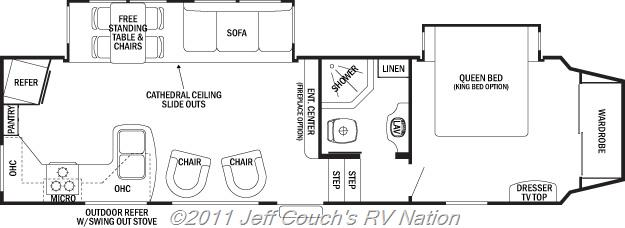 New Fifth Wheel Forest River Cedar Creek Silverback RK - Forest river 5th wheel floor plans