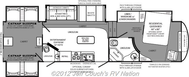 New Fifth Wheel 2012 Forest River Wildcat 344qb